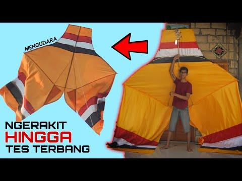 Layangan Cotek 2,5 Meter (PROSES MERAKIT & TES TERBANG) ...