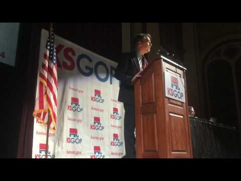 Lt. Gov Jeff Colyer addresses the 4th District Republican Party Special election convention