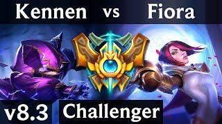 KENNEN vs FIORA (TOP) // Korea Challenger // Patch 8.3
