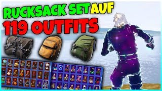 TEST the new backpack set on 119 skins! | Fortnite Battle Royale