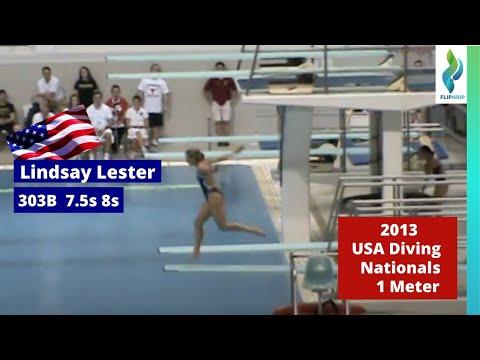 2013 Lindsey Lester - 303B - 7.5s 8s - 1m - USA Diving Nationals