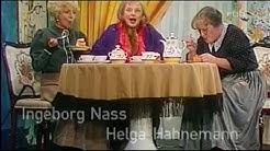 Helga Hahnemann, Ingeborg Nass, Margot Ebert in einer Persiflage auf sich selbst im Rentenalter. DDR