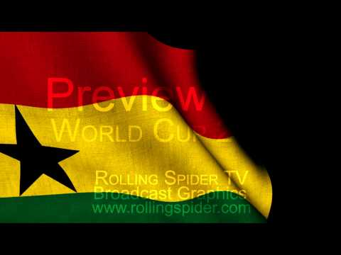 Preview Ghana Flag Wipe with Alpha