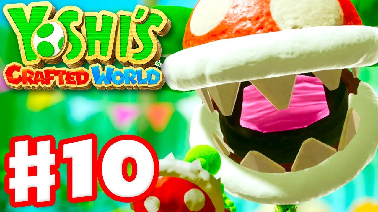 Download Yoshi's Crafted World - Gameplay Walkthrough Part 10 - Spike the Piranha Boss Fight! Acorn Forest!