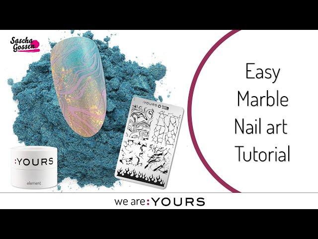 Easy Marble Nail art Tutorial