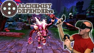 Alchemist Defender VR Gameplay (Pre-Release) on HTC Vive - Tower Defense Strategy in First Person!