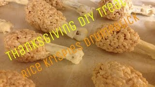Diy Thanksgiving Treat   Rice Krispies Drumstick.