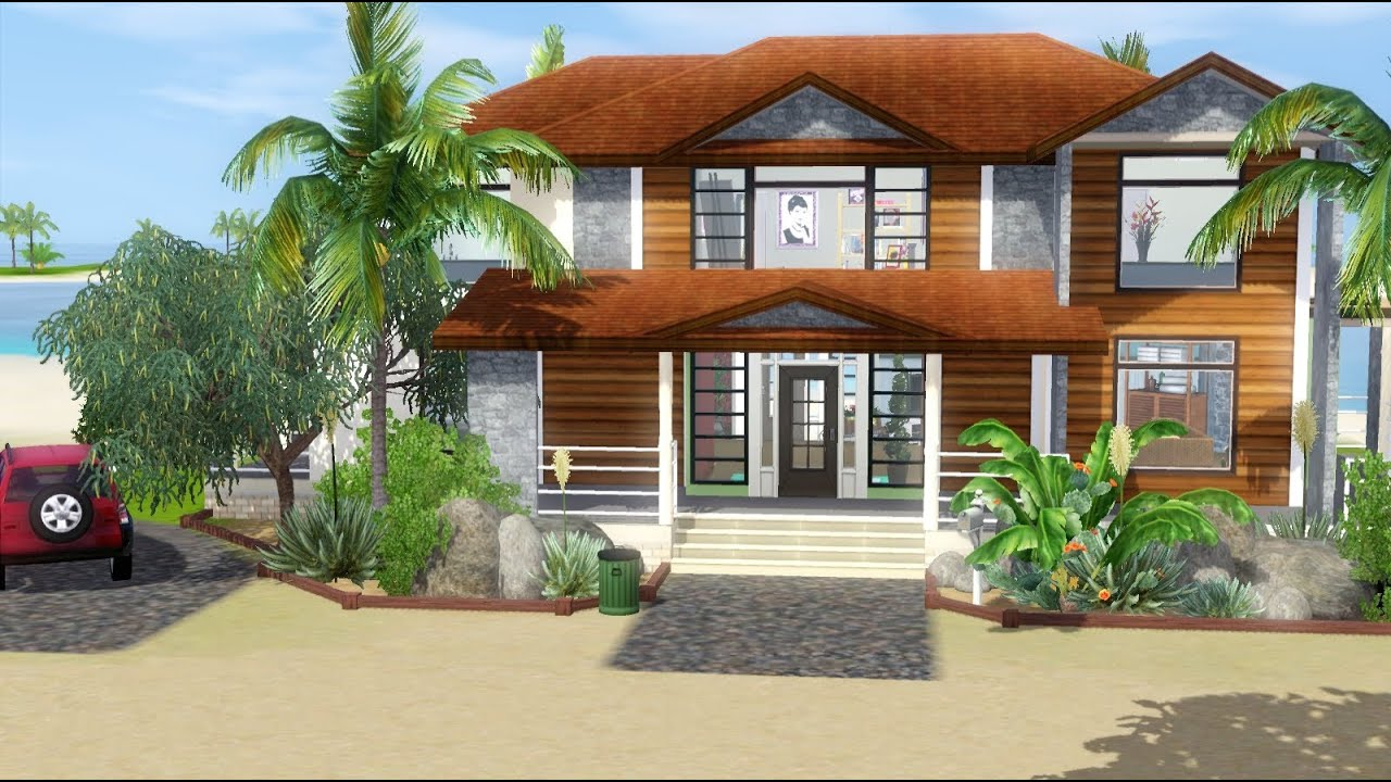 Sims 3 House Building - Tropical Haven (with story) - YouTube