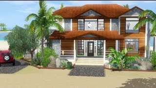 Sims 3 House Building - Tropical Haven (with story)