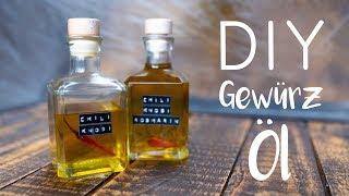 DIY Gewürzöl - Knoblauch- Chili und Rosmarinöl - Geschenk für Ostern