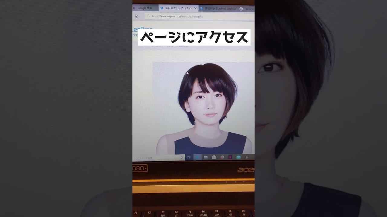 【Windows】新垣結衣の画像を大量ダウンロードする方法