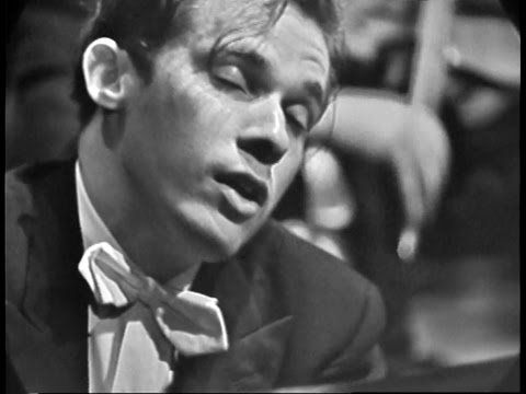 Glenn Goulds US Television Debut: Bernstein Conducting Bachs Keyboard Concerto No 1 in D minor