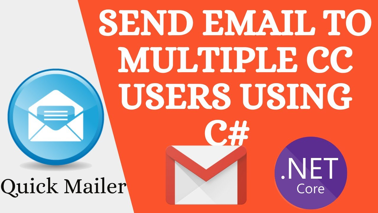 How to Send emails to Multiple Recipients with CC using Asp.Net Core MVC 5