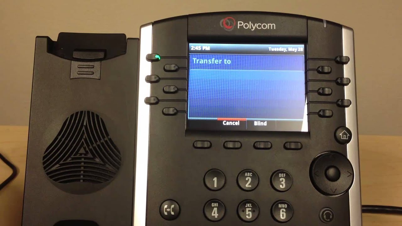 Polycom VVX 400/401 Consulted Transfer   Evolve IP Quick Tip - YouTube