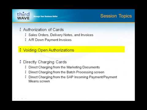 Third Wave Credit Card Processing : How to Authorize,Void and Directly Charge Cards