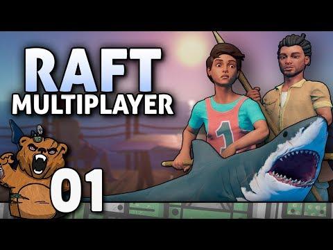 Cadê os alemões   Raft Multiplayer #01 - Português PT-BR