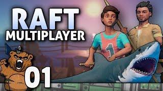 Cadê os alemões | Raft Multiplayer #01 - Português PT-BR