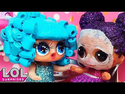 Что то пошло не так в салоне красоты. Мультик куклы ЛОЛ сюрприз. Stop-motion animation LOL surprise