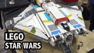 Giant LEGO Ghost Ship from Star Wars Rebels (Brick Vault Design)