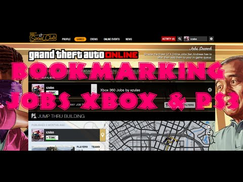 How to bookmark jobs for ps3 and xbox Rock Star Social Club