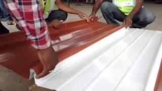 Aluminium sheet roofing