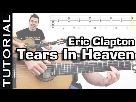Como tocar Tears In Heaven de Eric Clapton en guitarra tutorial fingerpicking