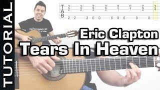 Como tocar Tears In Heaven de Eric Clapton en guitarra tutorial fingerpicking