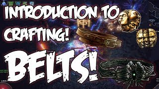 Path of Exile - Crafting 101 - Belt Crafting How To Guide!  MAKE MORE CURRENCY!
