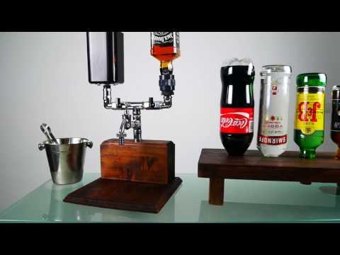 Handmade Mixer Alcohol dispenser in Chrome