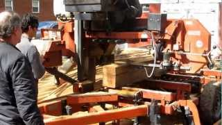 Portable Sawmill In Action - March 2013  (mad Sound)