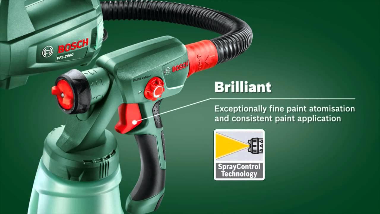 Bosch Pfs 1000 Fine Spray System Youtube