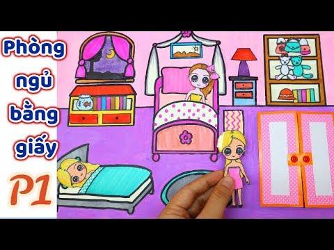 Ngôi nhà búp bê giấy #3 Phòng ngủ P1 / DIY QUEITBOOK PAPER DOLLS- Bedroom / Ami DIY