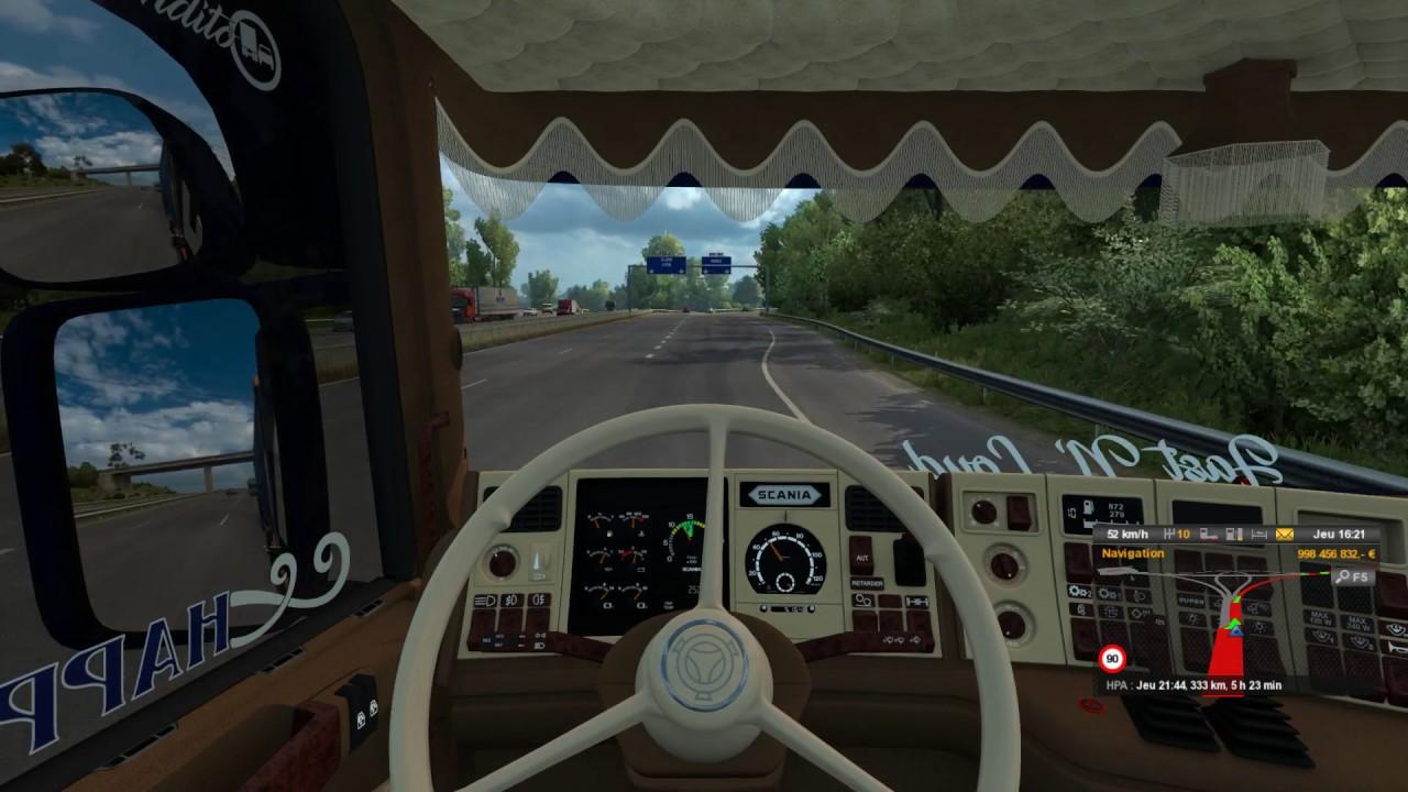 Euro Truck Simulator 2 Scania V8 WiP update 9.1 - YouTube