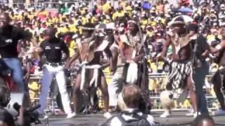 Ihashi Elimhlophe - zulu dance group performing at ANC final rally for Zumas presidency