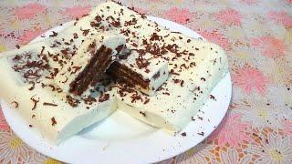 Торт без выпечки за 15 минут. Рецепт с желе и творогом(Еще один простой и вкусный рецепт торта без выпечки. Сам торт готовится 15 минут, и охлаждается в холодильник..., 2016-01-10T10:00:00.000Z)