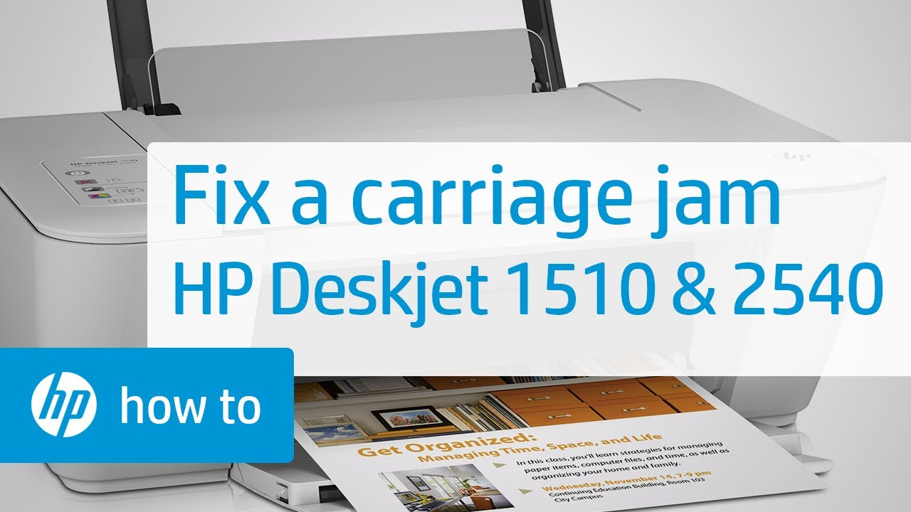 Fixing A Carriage Jam For The Hp Deskjet 1510 And 2540
