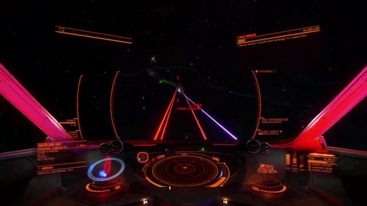 Hauler vs Elite Federal Corvette PvP (Elite Dangerous) by CMDR THREEOFNINE