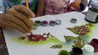 Aprendendo a pintar lindas uvas