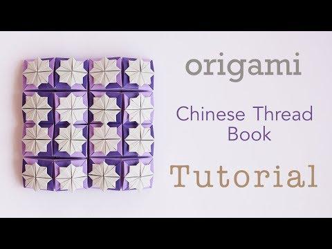 Origami Chinese Thread Book / Zhen Xian Bao Tutorial