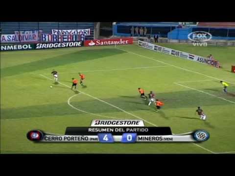 Cerro Porteño 4 - 0 Mineros Copa Sudamericana 2012