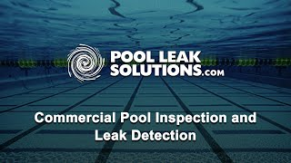 Commercial Pool Diagnostics
