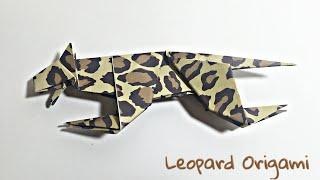 LEOPARD ORIGAMI TUTORIAL | ANIMALS ORIGAMI