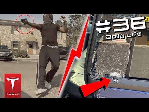 EXTREME TESLA CARJACKING ATTEMPT WITH GUN, CAR CRASHES & MORE | Ultimate TeslaCam Compilation #36