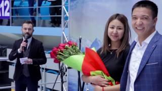 Свадебное предложение на матче
