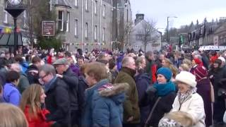 Pitlochry Scottish New Year 2014 Street Celebrations