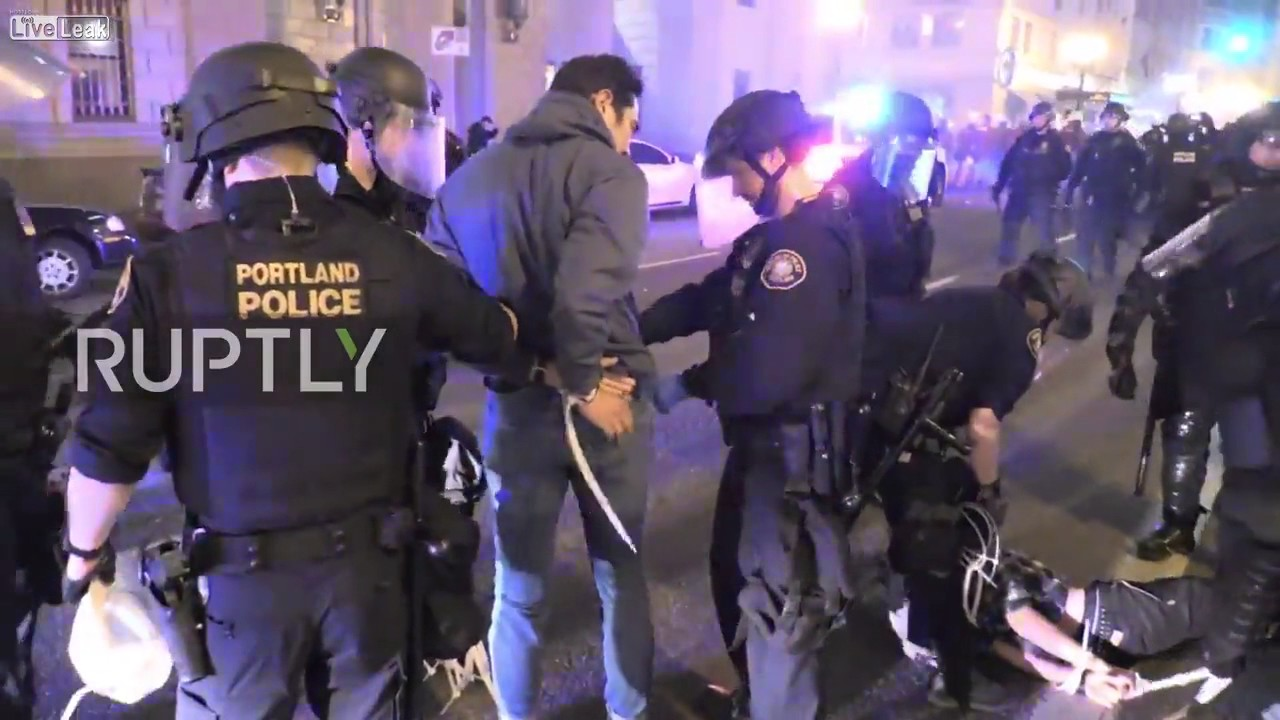 25 arrested in Portland May Day violence after protesters hurl bottles ...
