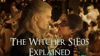 The Witcher S1E05 ကိုရှင်းပြသည် (The Witcher Netflix စီးရီး၊ ပုလင်းကွဲအစာစားမှုများရှင်းပြသည်)
