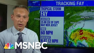 Tropical Storm Fay Brings Rare High Winds To New York City | MSNBC