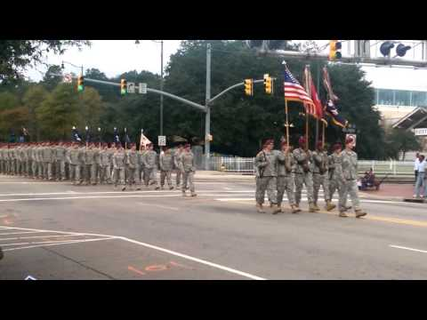 Fort Bragg Soldiers March For Veterans Day