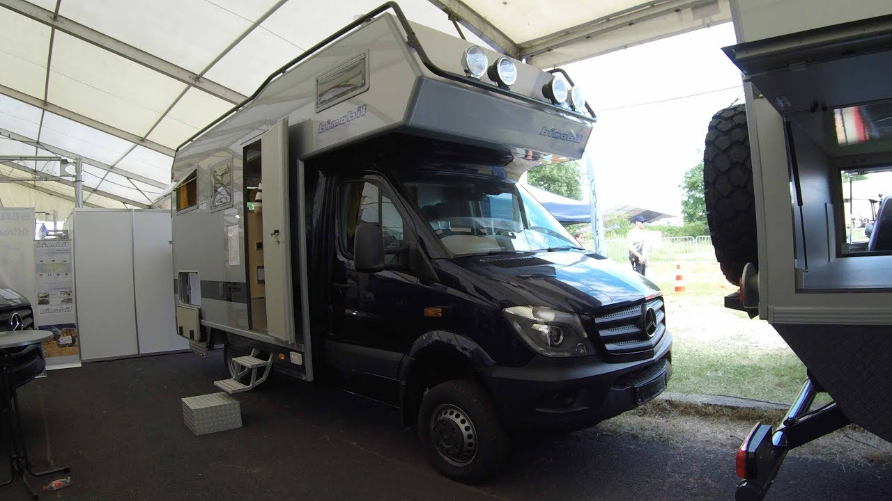 MERCEDES BENZ 519 CDI SPRINTER 4X4 BIMOBIL CAMPER LBX365 WALKAROUND INTERIOR BLUE COLOUR